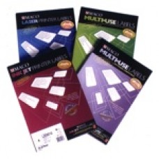 maco multi use 30 per page labels 64 5 x 25 4mm 100 sheets