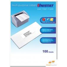 Unistat Copier/Laser 16 Up Label 105X37 (38932) - 1600 Labels